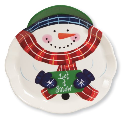 Creative Converting Plastic Snowman Shaped Tray, 14-Inch