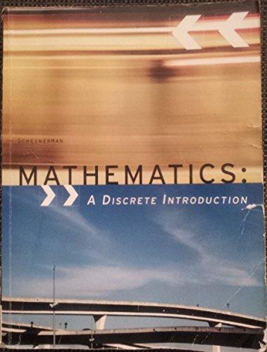 MATHEMATICS [3E] A DISCRETE INTRODUCTION