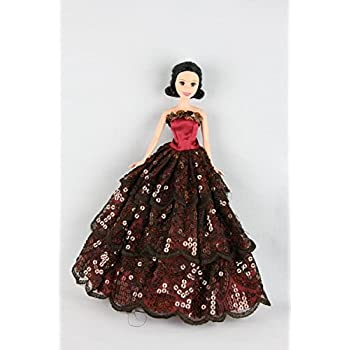 Amazon.com: Elegant White Gown with Red Accents and
