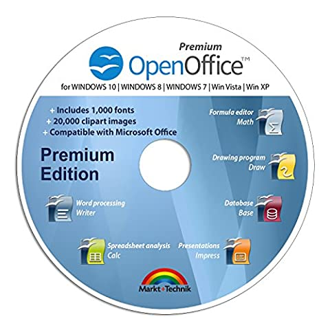 Office Suite Special Edition for Windows 10-8-7-Vista-XP | PC Software and 1.000 New Fonts | Alternative to Microsoft Office | Compatible with Word, Excel and (Word Perfect Office Suite)