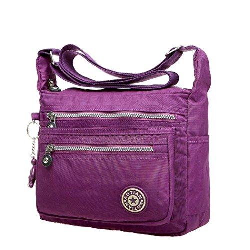 Girls Nylon Waterproof Leisure Ouneed Messenger Purple Womens Bags Bags Shoulder xqwSqRBC