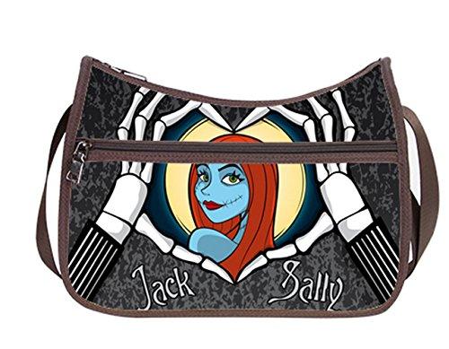 Classic Everyday Hobo - Simple Classic Everyday Hobo Handbag Female Women Shoulder-to-Crossbody Hobo Bag Jack and Sally Pattern
