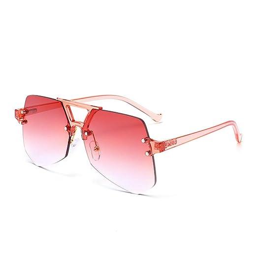 Yangjing-hl Moda Gafas de Sol con Montura Transparente sin ...