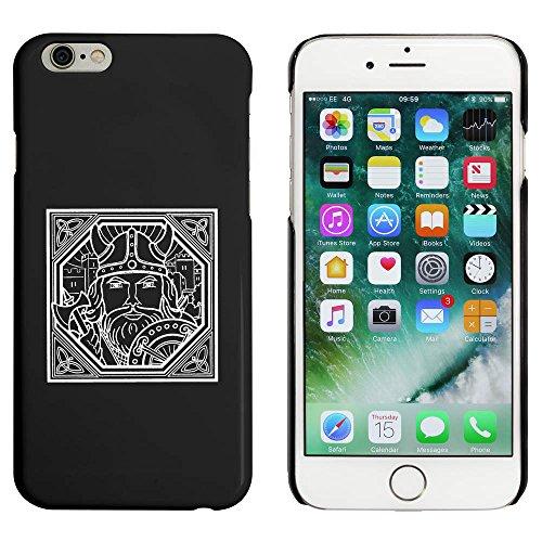 Schwarz 'Quadratisches Wikinger-Motiv' Hülle für iPhone 6 u. 6s (MC00019545)