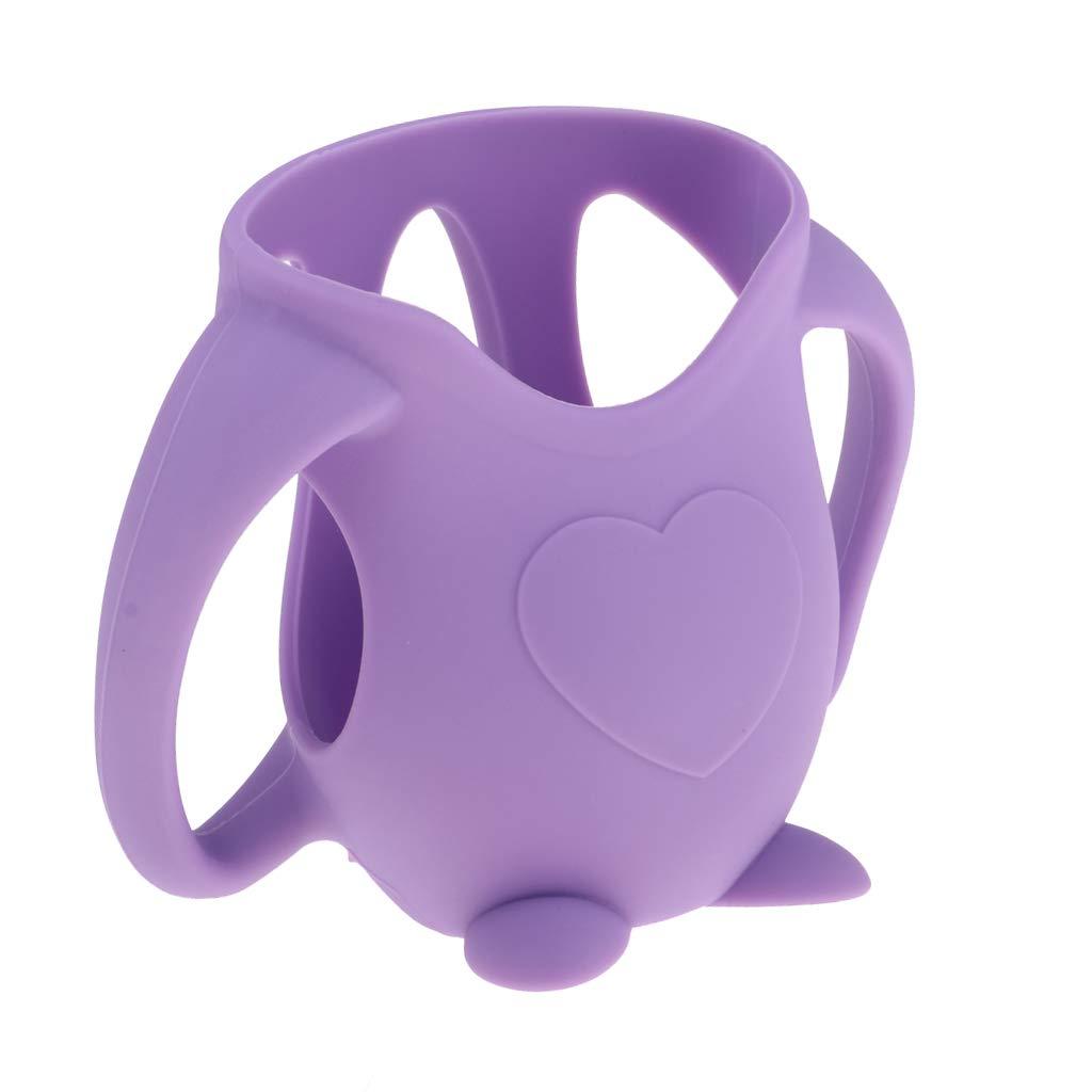 F Fityle Housse de Protection Silicone pour Biberon Verre Bouteilles de Lait Violet