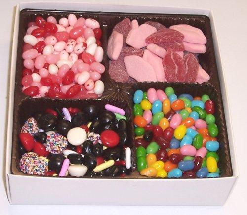 Scott's Cakes Large 4-Pack Smoochie Lips, Valentine Beans, Conversation Beans, & Licorice