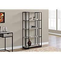 Monarch I 7241 Bookcase-60 H Black Metal, Dark Taupe