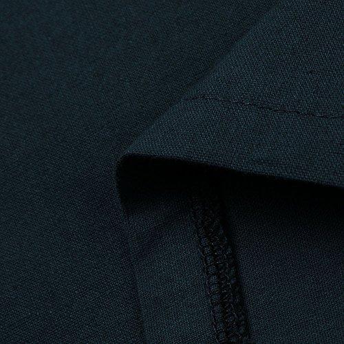 Courtes À Élégant Couleur Lâche Adeshop Bohemia Taille Manches Robe De Pure S Robe Robes Plage Marine En Col Coton Casual 5xl Femmes Chic Soirée Grande V Lin Mode 6Adxadqn