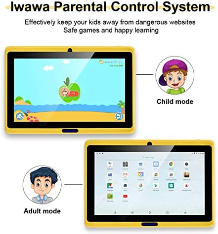 CARRVAS Tablet for Kids, 7inch WiFi & Android 8.1 KidsTablet 1G(RAM)+16G, Pre-Installed Iwawa, Parenting Control Tablet with Educational Games App 51WnU8w 9VL