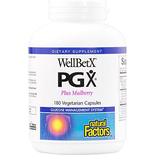 Mulberry Natural (Natural Factors - WellBetX PGX Plus Mulberry, Helps Promote a Normalized Appetite, 180 Vegetarian Capsules)