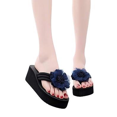 Satin Chaussures Tongs Talons Femme Été Fleur Femmes À Élégant vN8wn0Om