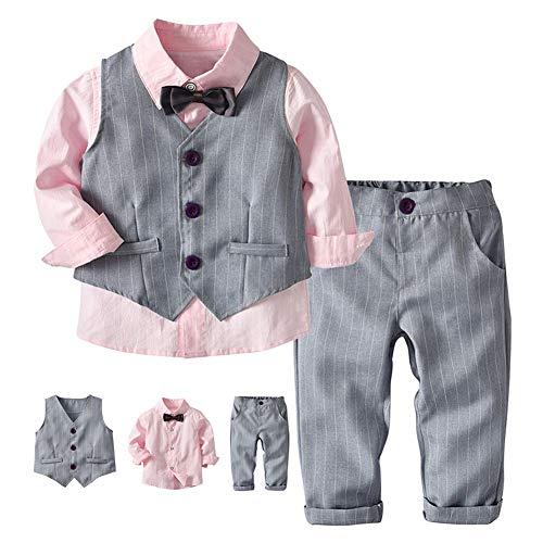 G-kids Baby jongens kledingset gentleman pak peuters doop bruiloft Kerstmis colbert pak vlinderdas speelpak hemd + broek…