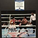 #10: Autographed/Signed Sugar Ray Leonard & Roberto Duran Boxing 8x10 Photo Beckett BAS COA