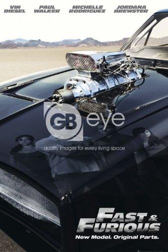 Elite*Posters Fast and Furious 4 Modelo Repuesto Fundido Coche de reflexión Gran película Póster 61 por 91,5 cm: Amazon.es: Hogar