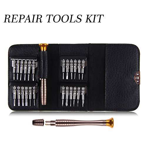 25 in 1 Repair opening Tool Kit - Precision Screwdriver Set Portable Wallet Leather Case Home Disassemble Maintenance Screwdriver Tools for iPhone iPad Smart Phone Tablet PC Game Console Tablets - Home Eyeglasses Try On