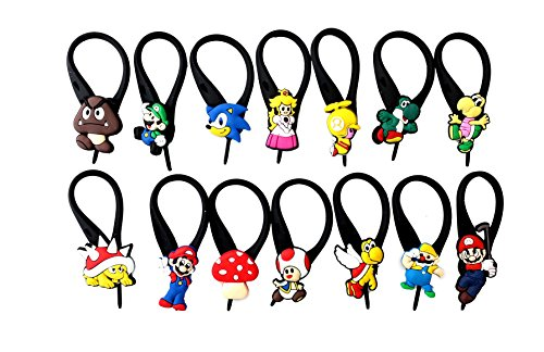 Toad From Mario Costumes (AVIRGO 14 pcs Soft Zipper Pull Charms for Bag Jacket Set # 69-3)
