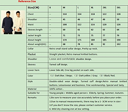 100% Cotton Tang Suits Double-sided Wear Retro Jackets Coats Business Jackets Full Dress by Double-sided Wear Tang Suit (Image #8)