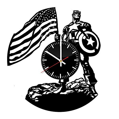 Captain America Vinyl Record Wall Clock