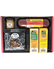 Wisconsin Cheese, Sausage & Gourmet Dipping Pretzel Gift Box, An Assortment Sampler of Wisconsin's Best Gift Boxes. Perfect for Gift Giving, with Prime.