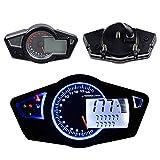 Motorcycle Motorbike Odometer 99999.9km Tachometer Speedometer Gauge 199 kmh/mph 15000 RPM Universal LCD Digital