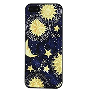TPT Sun Moon Space Pattern Hard Back Skin Case Cover for iPhone 5 5S (A)