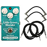 Mad Professor Little Green Wonder Overdrive Guitar Effects Pedal with 4 Free Cables