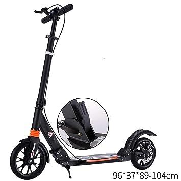 LJHBC Patinete Scooter Plegable Doble amortiguación Antes y ...