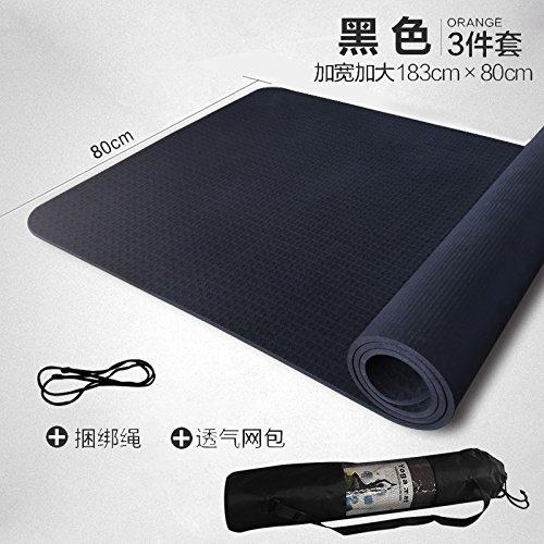 noir 80W 8Mm( Beginner) YOOMAT TPE Tapis Yoga Starter Rallonge Corps grand épais Tapis de Sol Fitness inodore Femme Tapis de Yoga anti-dérapant68765