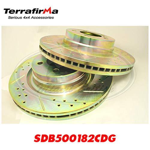 LAND ROVER FRONT BRAKE ROTOR DISC PAIR SET RANGE 06-09 SDB500182CDG TF ()