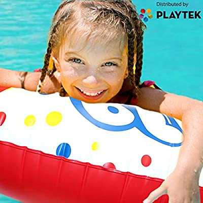 Playtek Pool Float, Large Round White Pop Swim Tube, Durable Floats Tubes for Swimming On Beach, Pool, Water Sports for Adults & Kids: Toys & Games