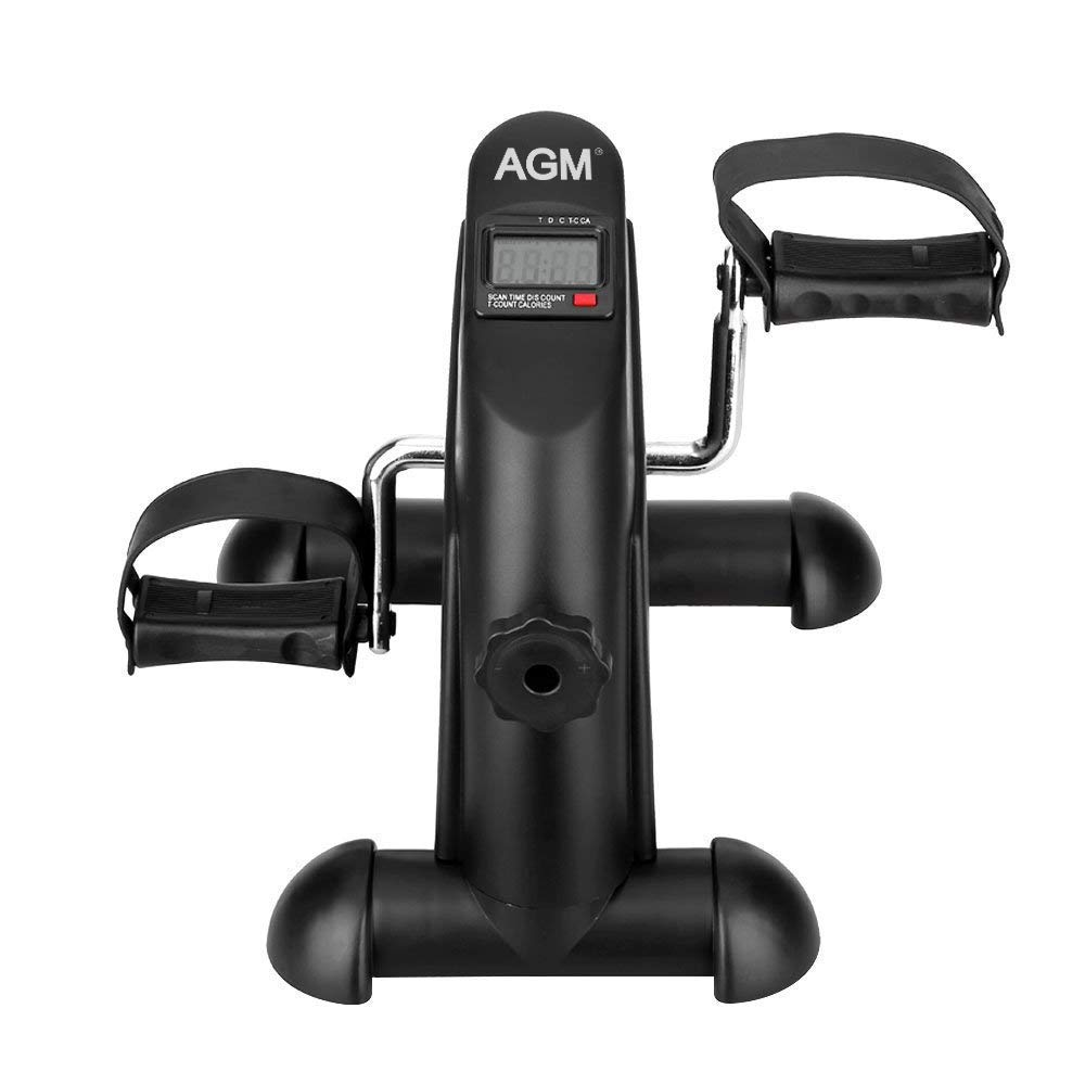 Mini Exercise Bike Pedal Exerciser Portable Cycle Arm and Leg Exerciser with LCD Display by AGM (Image #2)
