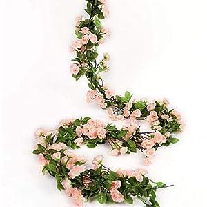 Mikash Artificial Rose Flower Garland for Tion Fake Rose Flower Vines for Wedding Fake Silk Flower Garland for Weddings, Home, Office, Party(Light Pink) | | Model WDDNG - 1172 85