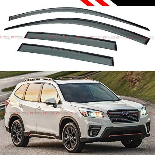 Fits for 2019+ Subaru Forester Sport Premium Black Trim Clip-on Window Visor Rain Guard - Forester Subaru Tuning