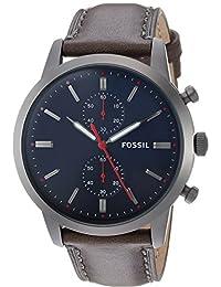 Fossil FS5378 Reloj Análogo para Hombre, color Gris