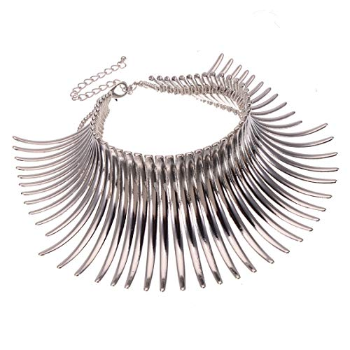 Fashion Choker Statement Necklace,Chunky Necklace Bib Chain Statement Collares Indian Jewelry Women
