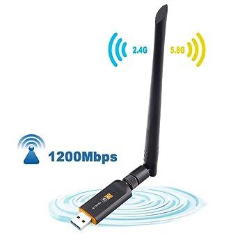 Adaptador WiFi USB 1200 mps Tarjeta de Red inalámbrica de ...