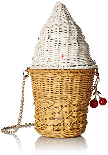 - Betsey Johnson SPRINKLES ON TOP WICKER ICE CREAM CONE CROSSBODY, multi