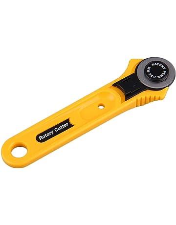Amarillo Adulto cortador de cuchillas de corte círculo de corte de círculo cortador redondo 28 mm