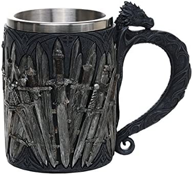 Pacific Giftware Legends of The Swords Game of Sword Thrones Dragon Mug Tankard 13oz 2