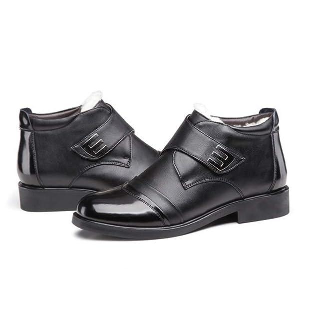 Zapatos De Vestir De Negocios De Invierno Botines para Hombre Botas De Nieve Forradas De Piel De Charol Botas Cortas para Adultos: Amazon.es: Zapatos y ...