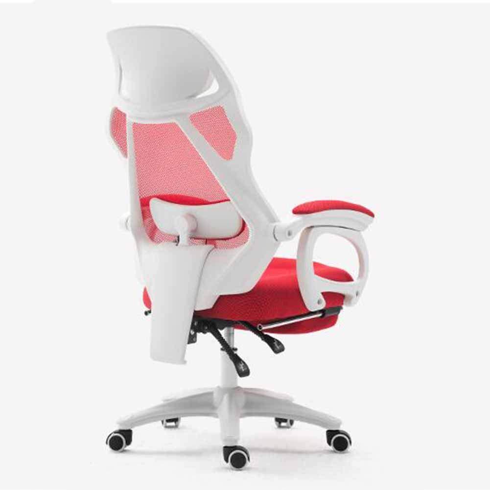 JXXDDQ svängbar stol nät ergonomisk stol modern minimalistisk hem dator kontor stol (färg: Rosa) Rosa