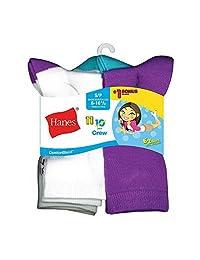 Hanes Girls` EZ-Sort ComfortBlend 11-Pack Crew Socks