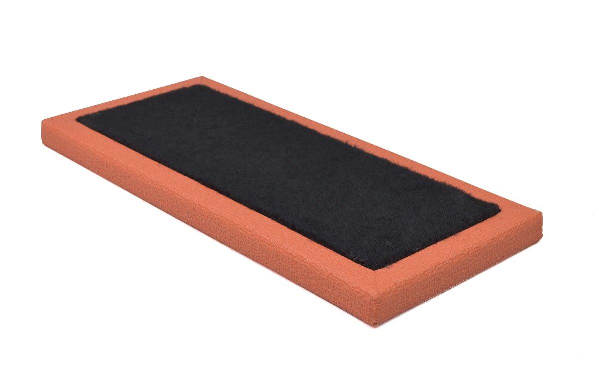 Ruach Orange Tolex Pedalboard Size 1-34 x 15.5 x 2cm
