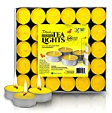 Zion Judaica Citronella Scented Tealight Candles Repellent for Mosquitos and Insects Indoor and Outdoor Use – Bulk Pack of 60 Bright Yellow Quality European Import