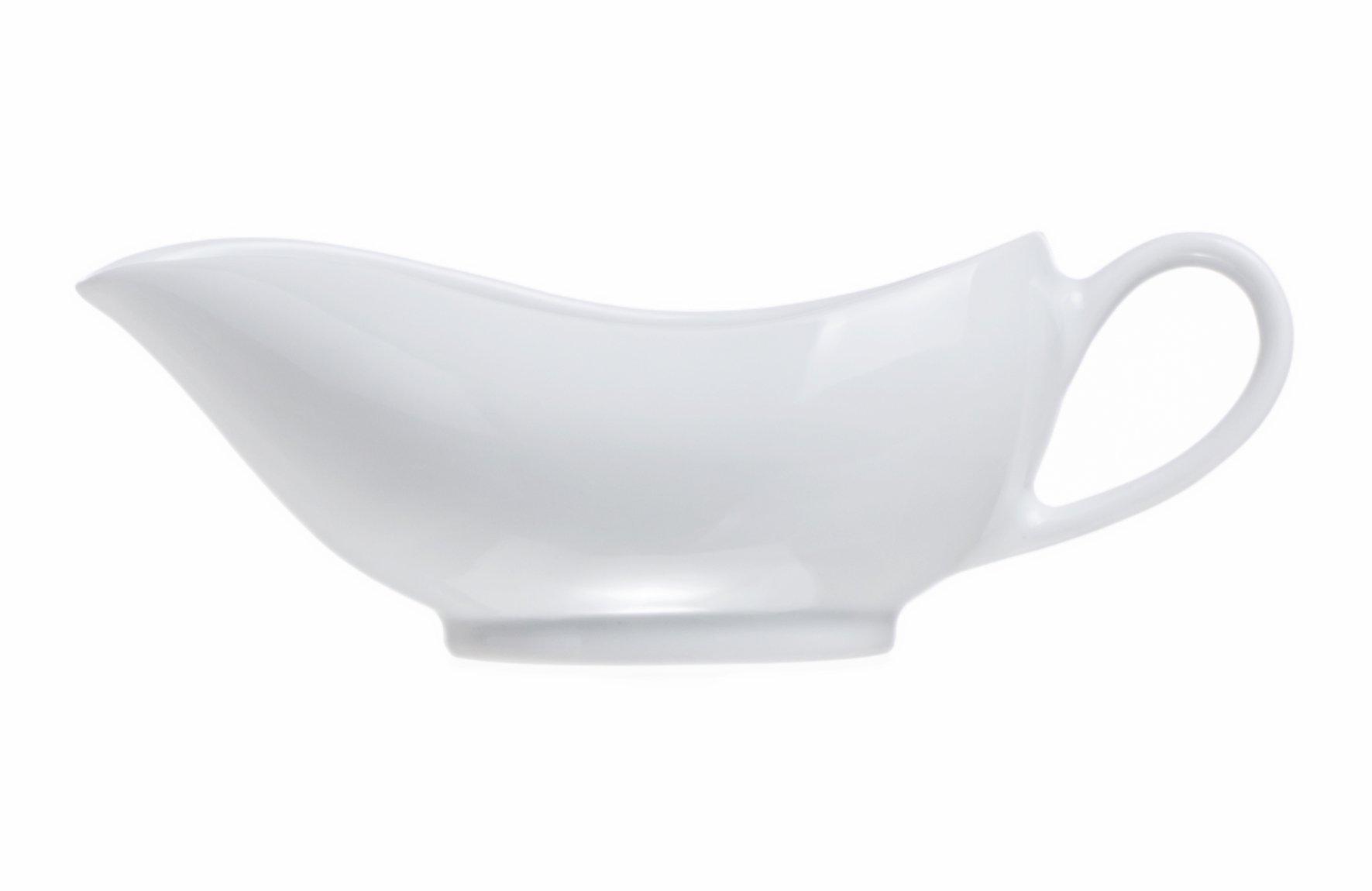 4-Piece Porcelain 5 Oz Classic Gravy Suace Boat, Restaurant&Hotel Quality