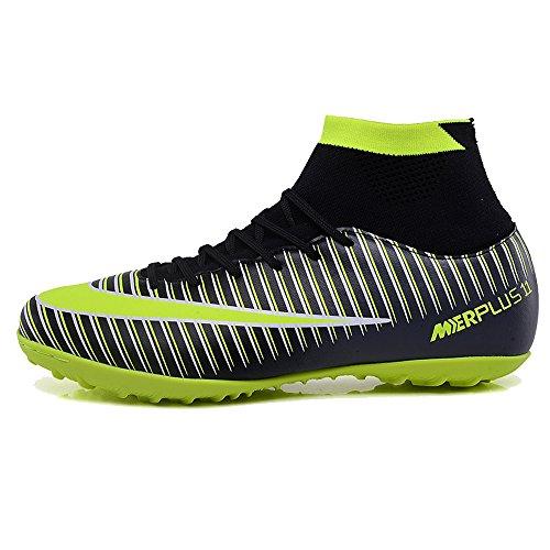 Football Chaussures De Vert Unisexe Noir r Bottes Garons Crampons Enfants Pour Baskets Kamixin Hautes Formation TnqdTF