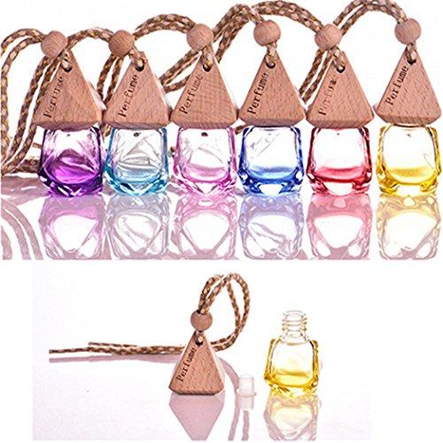 Bluelans Home Car Hanging Air Freshener Perfume Fragrance Diffuser Empty Glass Bottle ()