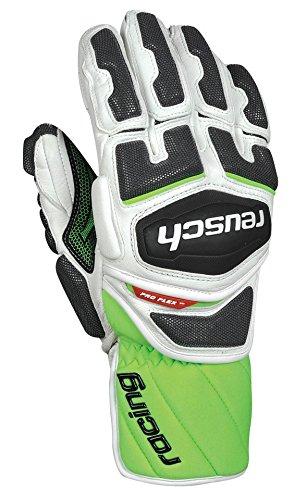 Reusch Snowsports Race-Tec 14 Giant Slalom Ski Gloves, Large, White/Neon Green (Ski Reusch Gloves)
