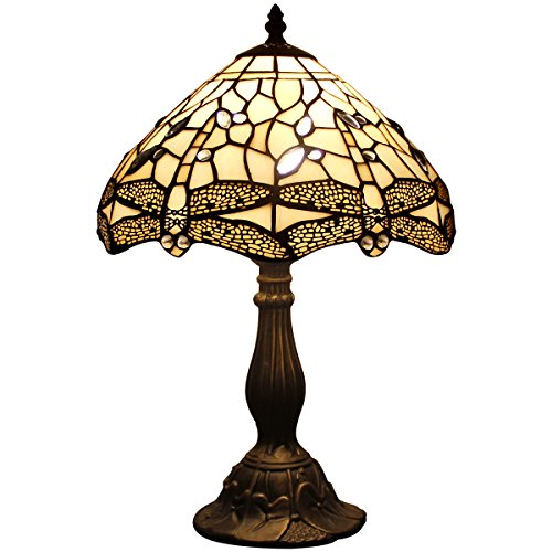 S147 Tiffany style table lamp light 18 inch tall 12 inch wide E26 (S139 Series) - Antique Partners Desk