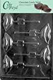 Cybrtrayd V038 Lips Lolly Chocolate Candy Mold with Exclusive Cybrtrayd Copyrighted Chocolate Molding Instructions